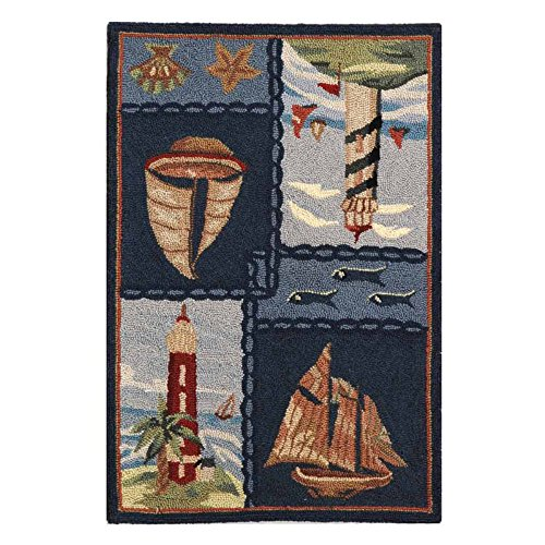 Safavieh Chelsea Collection HK267A Hand-Hooked Blue Premium Wool Area Rug 2 6 x 4