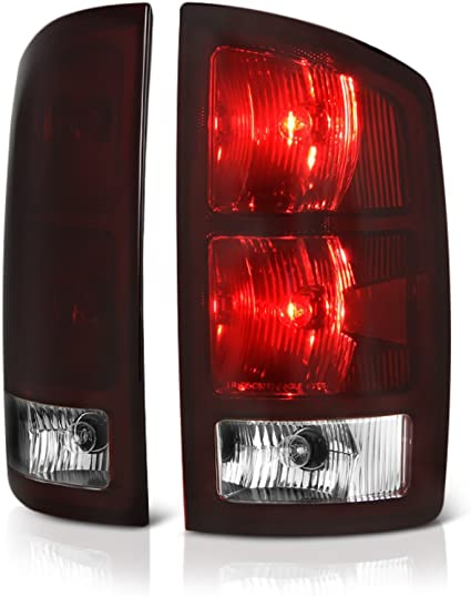 Right For Dodge Ram 1500//2500//3500 Pickup Truck Red Smoked Tail Lights Brake Lamps Replacement Left