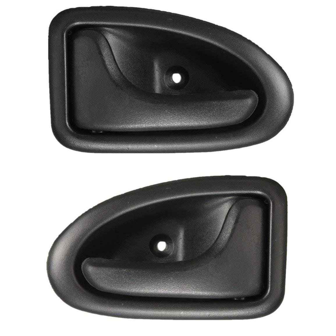 Colore: nero DESTRA Maniglia per porta interna per Renault Clio Megane Trafic Scenic