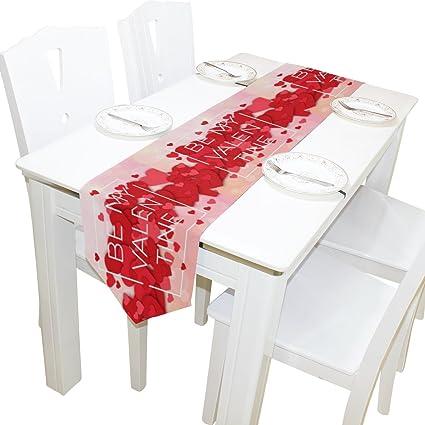 Amazon Com Alaza Table Runner Home Decor Happy Valentines Day