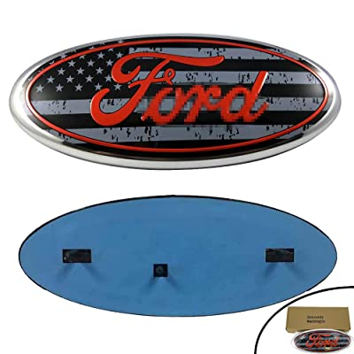 Shenwinfy Front Grille Tailgate Emblem for 04-14 F150, Ford Oval Badge for 11-14 Edge, 11-16 Explorer, 06-11 Ranger, 07-14 Expedition: Automotive