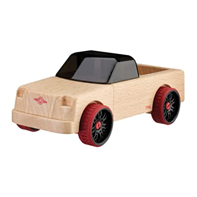 Automoblox Collectible Wood Toy Cars and Trucks—Mini T15L Grizzly Pickup (Compatible with other Mini and Micro Series Vehicles), Red: Toys & Games