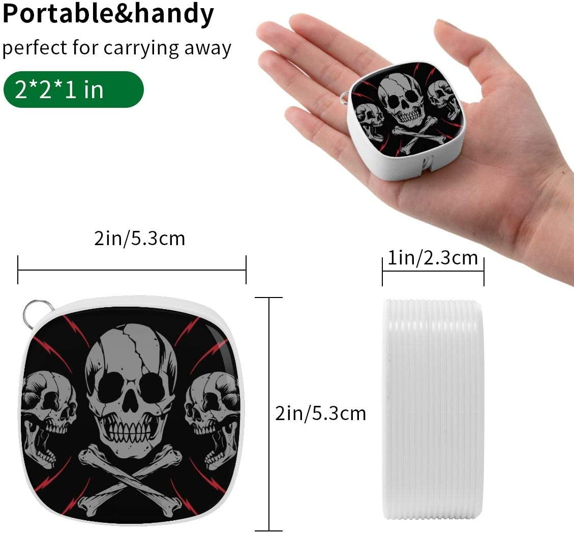 Skulls and Bone Cross Square Three-in-One Data Cable A Necessary Data Cable for Home and Car Travel