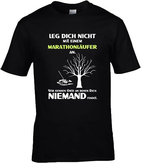 Fun Shirt Herren Leg Dich nicht mit einem Marathonläufer an