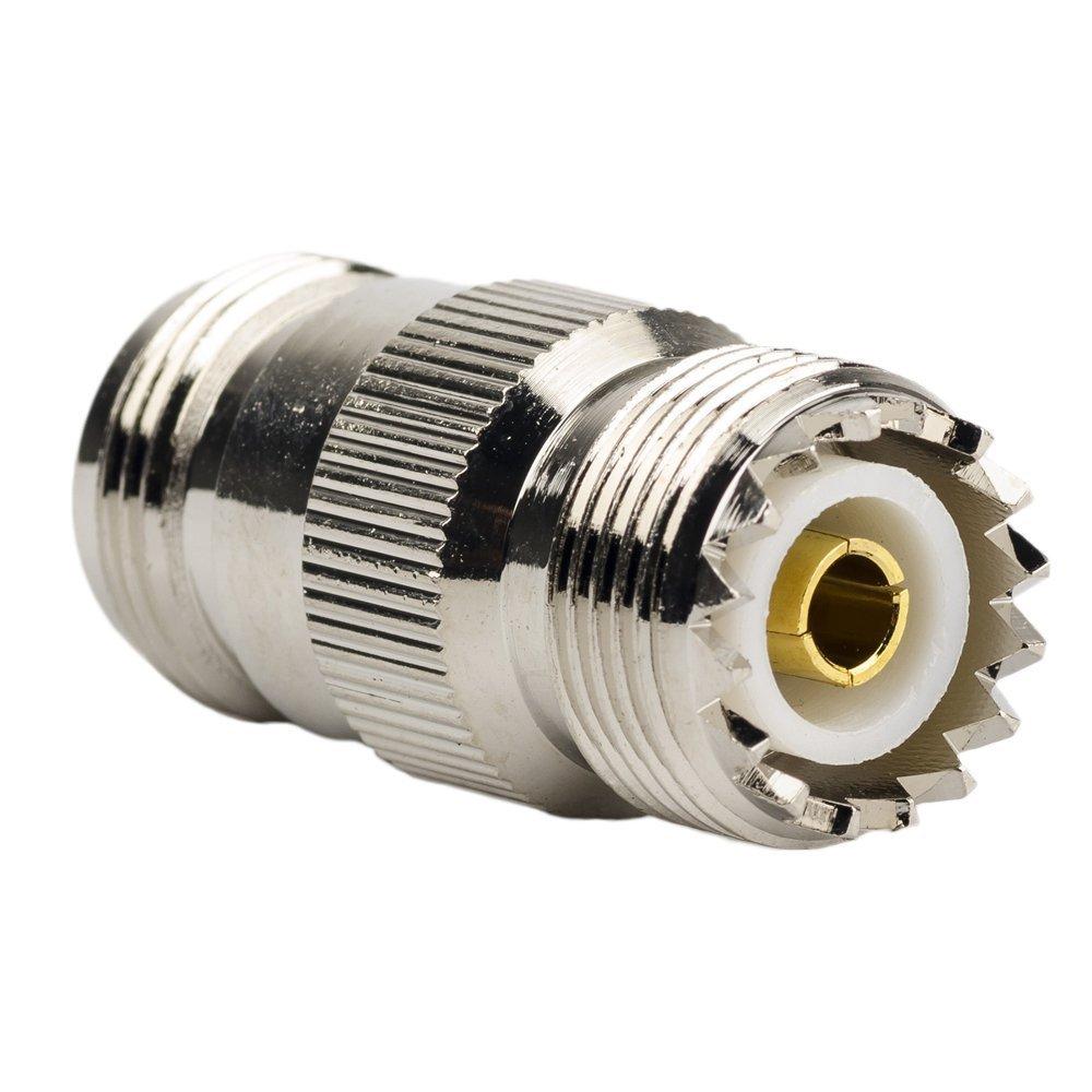 Amazon.com: eDealMax UHF SO-239 hembra a hembra conector coaxial Adaptador Recto 2 piezas: Electronics