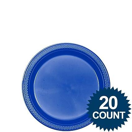 Royal Blue Plastic Plates 7u0026quot; ...  sc 1 st  Amazon.com & Amazon.com: Royal Blue Plastic Plates 7