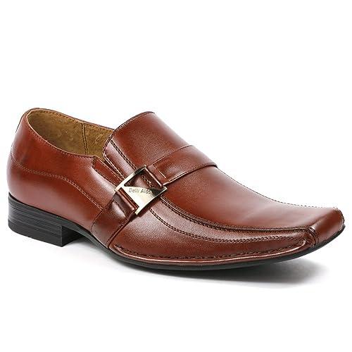 Delli Aldo m-19231 marrón Mens Hombre vestido clásico zapatos W/forro interior de piel: Amazon.es: Zapatos y complementos