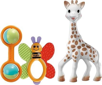 Vulli 200161 - Set de 3 juguetes para recién nacido, diseño Sophie la jirafa