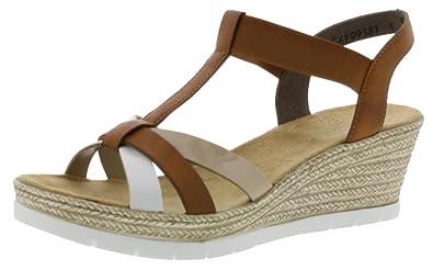 Einkaufen 2019 am besten verkaufen Luxus Rieker Damen 61995-81 Geschlossene Sandalen