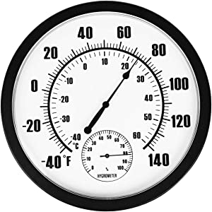 Eyourlife10 Decorative Indoor Outdoor Thermometer Large for Garden,Pool,Kitchen,Patio Wall Thermometer No Battery Needed