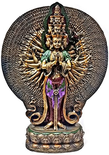 Thousand-armed Avalokiteshvara Tibetan Buddhism Statue, Bronze Powder Cast Statue 12