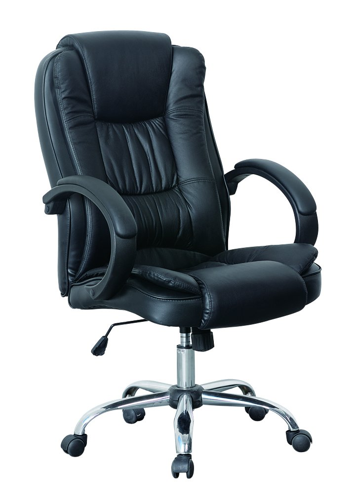 luxury office chair. hnnhome high back luxury 360 degree swivel leather executive office furnitue computer desk seat height adjustable chair black amazoncouk