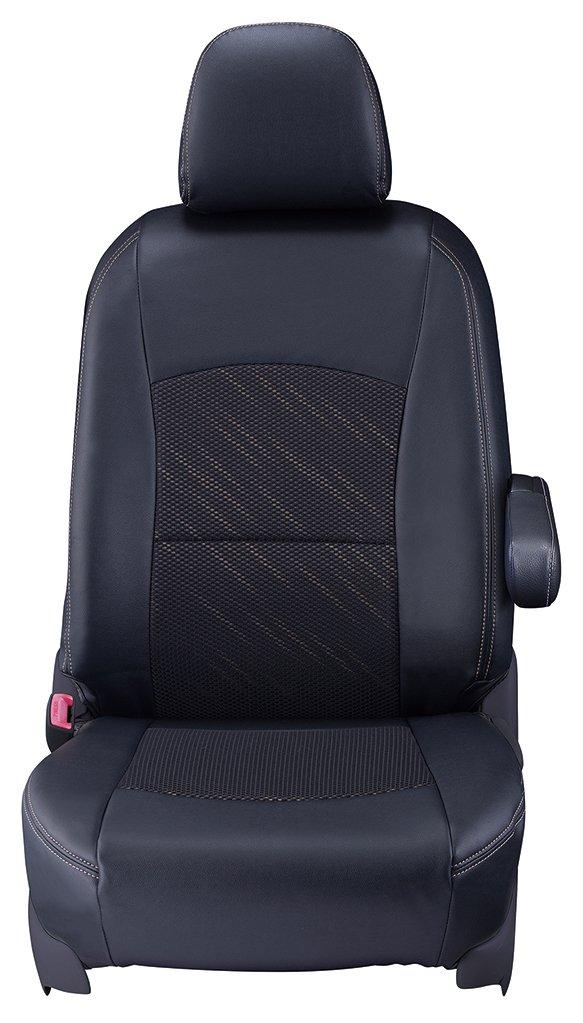 クラッツィオ シートカバー タント/タントカスタム LA600S/LA610S Clazzio クール ブラック×タンベージュスタイル ED-6515 B01HT9PJUU ブラック×タンベージュ ブラック×タンベージュ