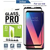 For LG V30 Screen Protector, Jyline[Full coverage][Scratch Resistant][HD Clear][Easy install][9H Hardness][Bubble Free] Ultra Clear Tempered Glass Screen Protector for LG V30