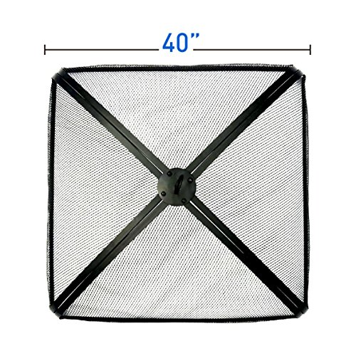 Large Spark Screen - EasyGo 40 inch Square FIRE Screen – FIRE Pit Cover – FIRE Screen Protector