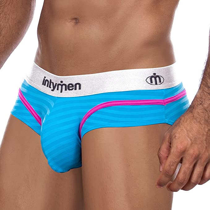 Slip Ajustado Hombre Ropa Interior Masculina Moda Calzoncillo Underwear Men Slips ABOEBE INTYMEN (S,