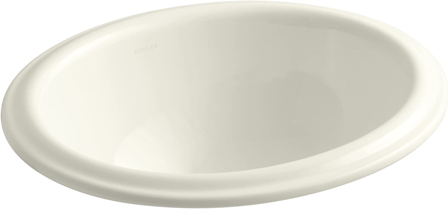 KOHLER K-2292-96 Intaglio Self-Rimming Bathroom Sink, Biscuit