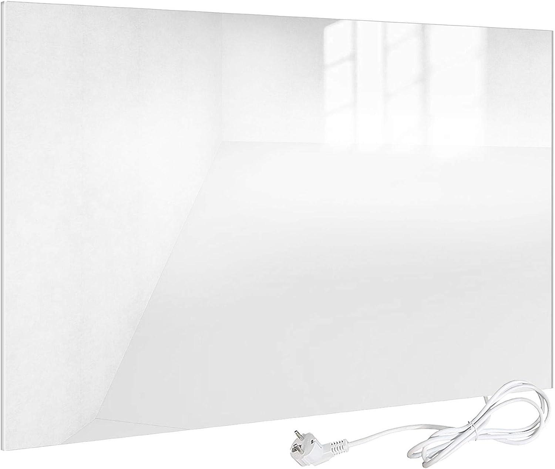 Viesta H450-GW Chauffage infrarouge 450 watts chauffage plat en verre de s/écurit/é et protection contre la su panneau chauffant en verre blanc avec la plus grande efficacit/é gr/âce /à la technologie des cristaux de carbone