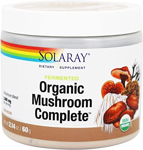 Solaray Organic Fermented Mushroom Complete Powder, 2.14 Ounce