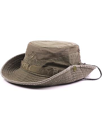 d6f67c66b1b Thenice Unisex Cotton Sun Cap Outdoor Bucket Mesh Boonie Hat