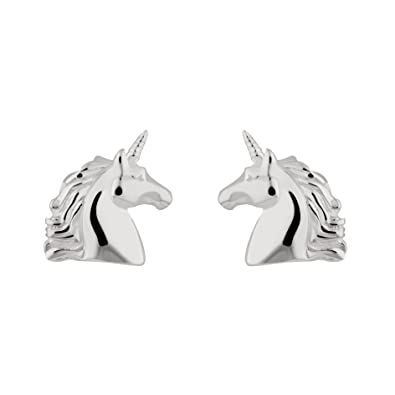 dd050e974 Image Unavailable. Image not available for. Colour: Sterling Silver Unicorn Stud  Earrings by Lily Charmed