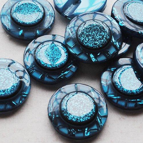 Chenkou Craft 30pcs 22mm Plastic Button Sewing Craft Back Hole Fashion Overcoat Buttons Lots U pick ()