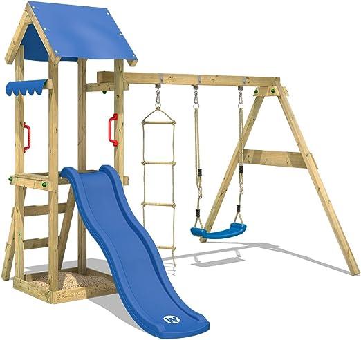 WICKEY Parco giochi in legno TinyCabin Giochi da giardino con