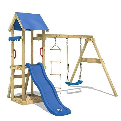 Wickey Parco Giochi Tinycabin Di Legno Per Bambini Con Altalena E Scivolo