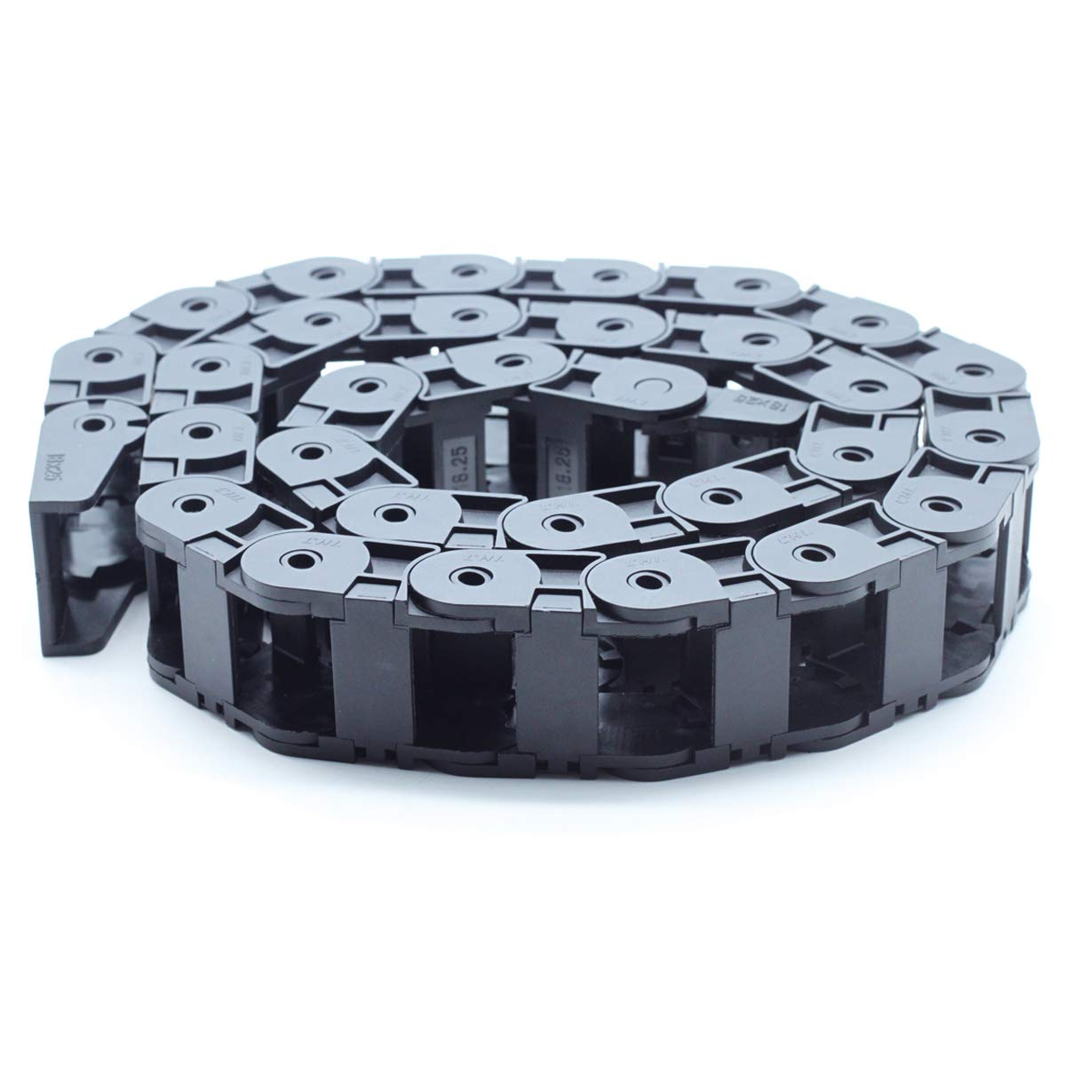 18mm x 25mm Dasunny Drag Chain CNC Cable Wire Semi Enclosed Type Carrier Drag Chains 39.4Inches Length