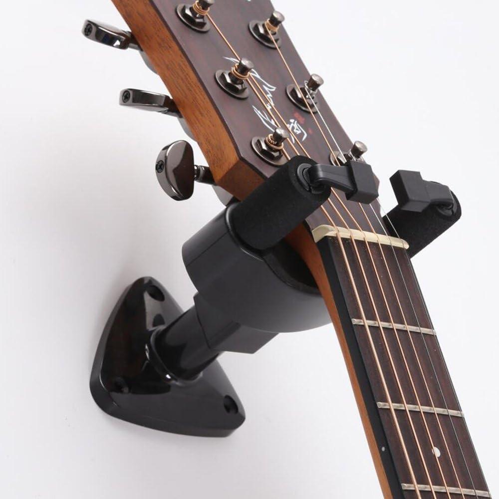 Soporte de guitarra de montaje en la pared, con diseño de bloqueo ...