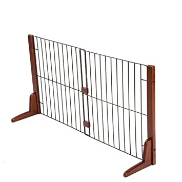 Amazon Wooden Pet Gate Freestanding Cats Dogs Door For Indoor