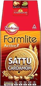 Sunfeast Farmlite Protein Power/Sattu Cardamom Biscuits, 150g