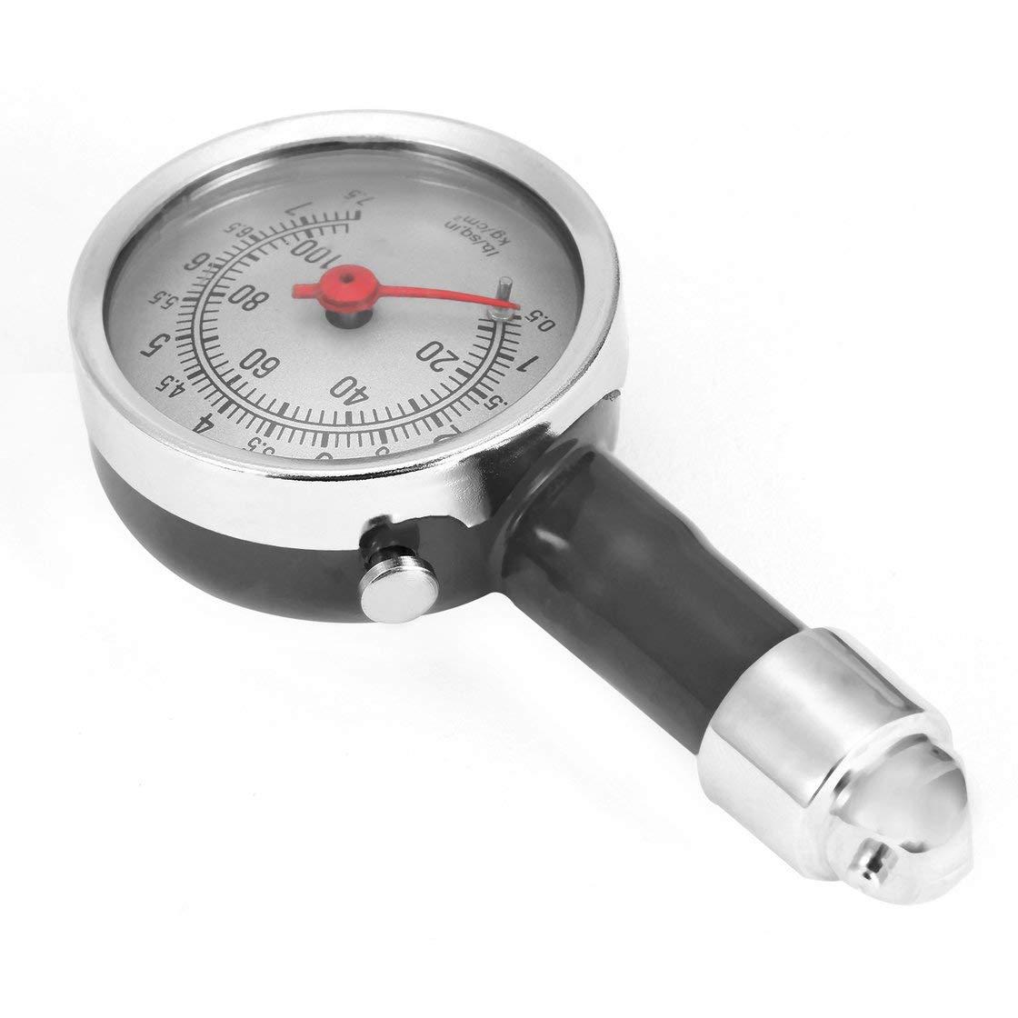 Hermosairis Schwarz Hohe Prä zision Auto Motor Bike Dial Reifen Mini Reifendruckprü fer Meter Mess Fetal Pressure Monitor Tools
