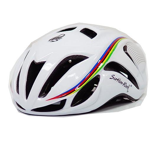 Amazon.com : Mens Bicycle Cycling Helmet Cover Cascos Ciclismo Mtb Capaceta Bicicleta Road Bike Integrall Casco Bici SA WHITE L : Sports & Outdoors