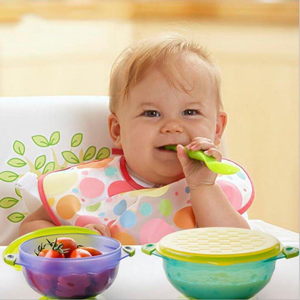 3x  Safety Soft Baby Infant Temperature Heat Sensing Feeder Feeding Spoon
