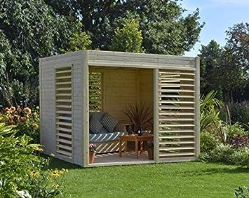 Caseta de jardín (madera maciza 6.5 metros cuadrados - 19 mm arty- Baltic: Amazon.es: Jardín