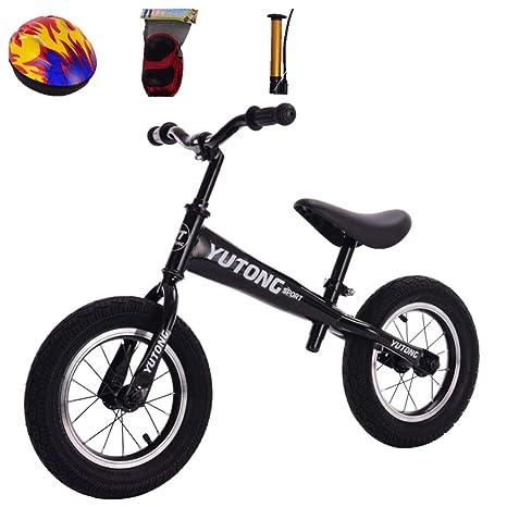 GSDZN - Bicicleta Sin Pedales para Niños | 12 Pulgadas | Manillar Ajustable Y Altura del