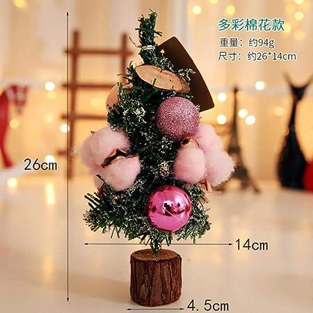 LAURUSQ 26Cm Mini árbol de Navidad Mesa de Escritorio Pequeños Adornos de Fiesta Productos de Año Nuevo Decoración de Navidad Regalo Adorno Colgante, Marshmallow: Amazon.es: Hogar