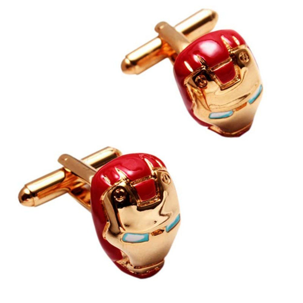 SS Red and Gold Color Ironman Cuffinks for Men