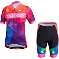 Uriah Women's Cycling Jersey Shorts Sets Short Sleeve Reflective