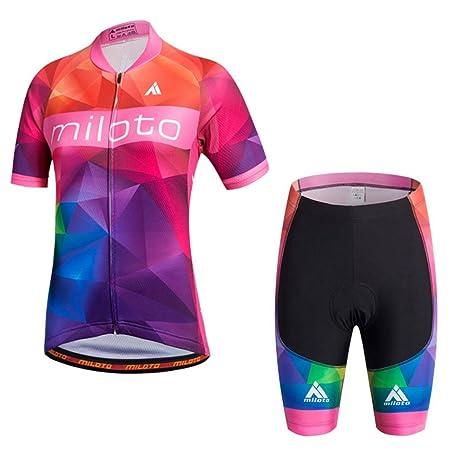 831ec9c7fb2 Uriah Women s Cycling Jersey Shorts Sets Short Sleeve Reflective Big  Universe Size ...