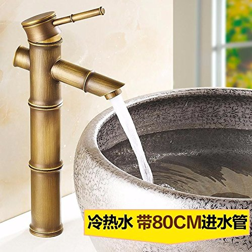 H Gyps Faucet Basin Mixer Tap Waterfall Faucet Antique Bathroom Mixer Bar Mixer Shower Set Tap antique bathroom faucet Water faucet basin of hot and cold single hole single handle mixer bathroom M,Mode