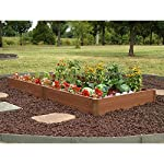 "Greenland Gardener Raised Bed Garden Kit - 42"" x 84"" x 8"" 6 Raised garden bed kit Makes garening easy Made from recycled materials"