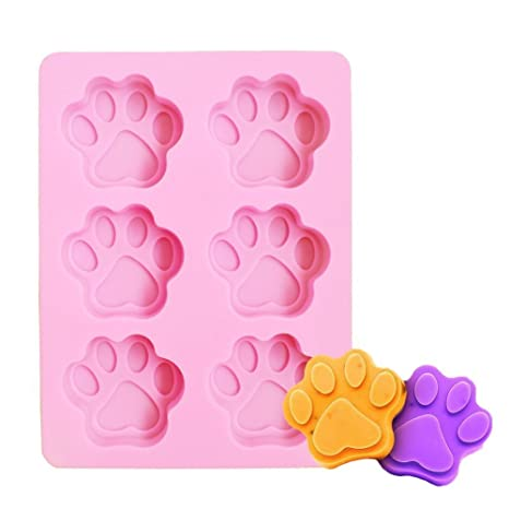Hosaire Silicona 6 Agujeros Garras del Gato Forma de decoración de Pasteles Herramienta Para Hornear Jabón