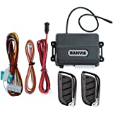 BANVIE Car Keyless Entry System for Central Door Lock with 4 Button Remote Control Transmitter
