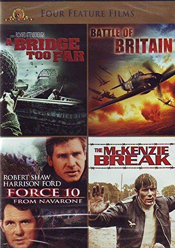 Four Feature Films: A Bridge Too Far, Battle of Britain, Force 10, The Mckenzie Break