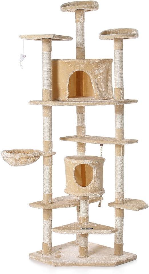 zoomundo Árbol Rascador para Gatos con Rascador Torre para Rascar ...