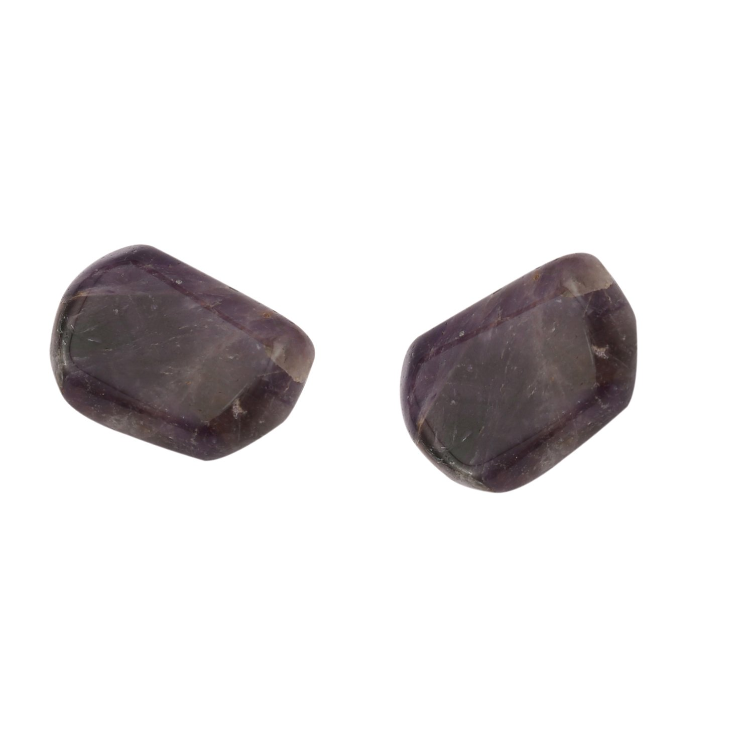 Aatm Healing Gemstone Amethyst Tumble Stone(25-30mm); (Set of 2) Aatm Collection;Healing Stone GAPC-103