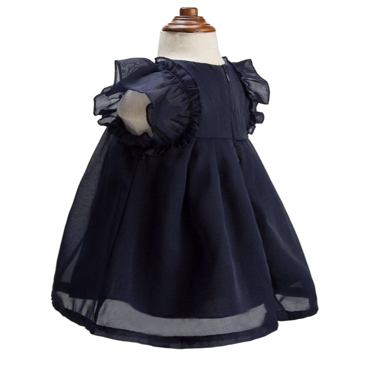 d75e2f46ed61 Amazon.com  mubenshang Baby Girl Dresses Casual Dresses Infant Toddler  Dresses 0-3-6-9-12-18-24 Months  Clothing