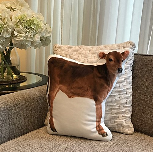 Calf Animal Shaped Pillow Measures 16 x 12 Soft and Cuddly Cushion Co